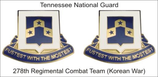 278th REGIMENTAL COMBAT TEAM PIN PAIR