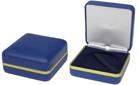 COIN PRESENTATION BOX BLUE - GOLD EDGE