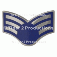 SENIOR AIRMAN (BLUE STAR) METAL PAIR