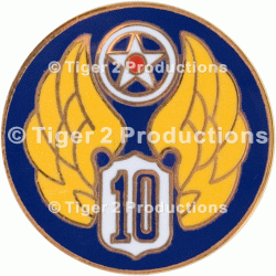 10th AIR FORCE PIN ARMY AIR FORCE