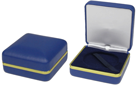 COIN PRESENTATION BOX BLUE - GOLD EDGE