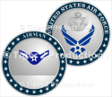AIRMAN PROMOTION COIN SHINY NICKEL 1.5 INCH