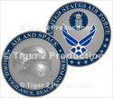 AIR FORCE SYMBOL COIN ANTIQUE SILVER 1.5 INCH