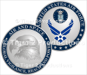 AIR FORCE SYMBOL COIN SHINY NICKEL 1.5 INCH