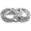 AIRCRAFT MAINTENANCE BADGE BASIC SILVER OXIDE