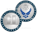 CAPTAIN PROMOTION COIN SHINY NICKEL 1.5 INCH