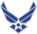 AIR FORCE SYMBOL 3 INCH SHINY NICKEL