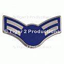 AIRMAN 1st CLASS (BLUE STAR) METAL PAIR
