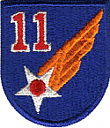 11th AIR FORCE PATCH ARMY AIR FORCE
